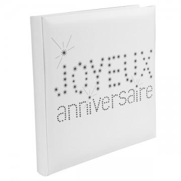 Livre d'or blanc Joyeux Anniversaire 24 x 24 cm