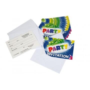 Lot de 10  cartes invitation  Party