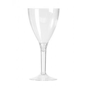 Lot de 10 verres à vinjetables  en plastique transparent