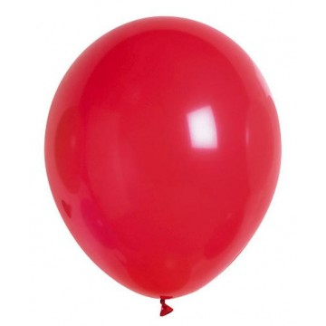 Lot de 100 ballons en latex opaque rouge