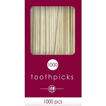 Lot de 1000 cure-dents jetables 6,6 cm