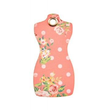 Lot de 12 étiquettes déco Haute Couture roses
