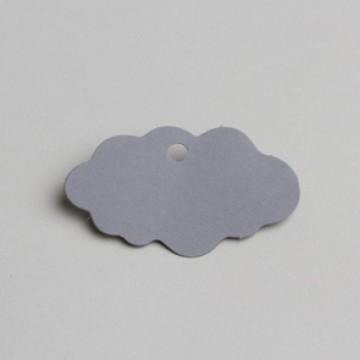 Lot de 12 étiquettes Nuage grises