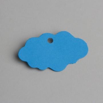 Lot de 12 étiquettes nuage turquoise