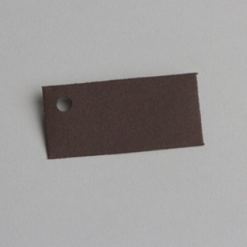 Lot de 12 étiquettes rectangle chocolat