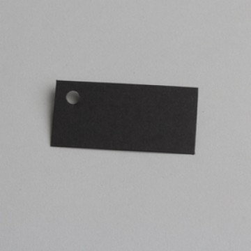 Lot de 12 étiquettes rectangle noire