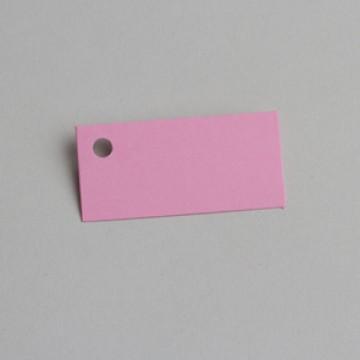 Lot de 12 étiquettes rectangle rose