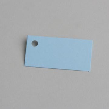 Lot de 12 étiquettes rectangle turquoise