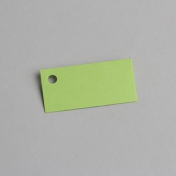 Lot de 12 étiquettes rectangle vert