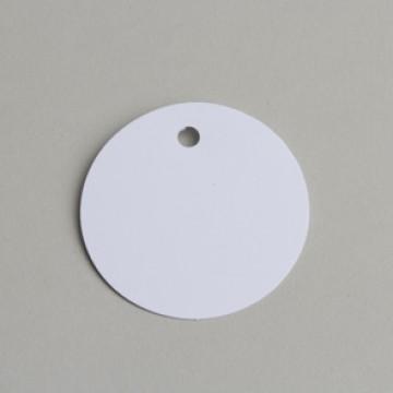 Lot de 12 étiquettes ronde blanches