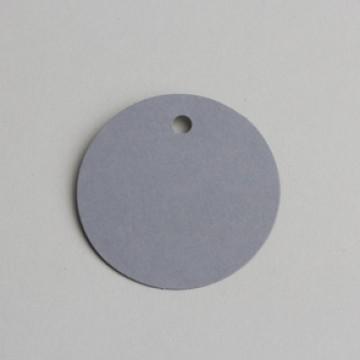 Lot de 12 étiquettes ronde grises