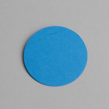 Lot de 12 étiquettes ronde turquoises
