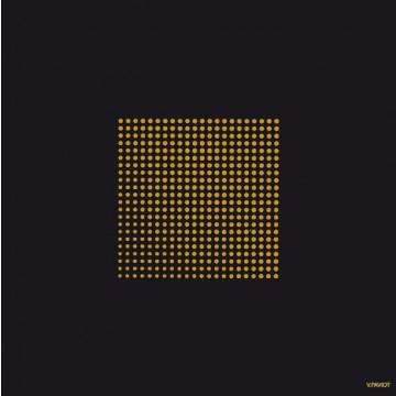 Lot de 20 Serviettes intissé Cosmos noir 25 x 25 cm