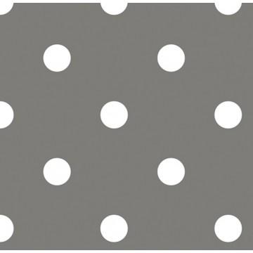 Lot de 20 serviettes intissé grises  à pois 25 x 25  cm