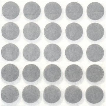 Lot de 20 Serviettes intissé Pop Argent 40 x 40 cm