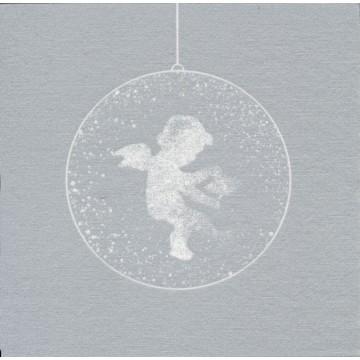Lot de 20 serviettes intissé  Poussière d'Ange argent 40 x 40 cm