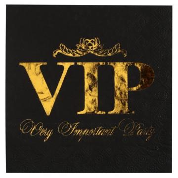 Lot de 20 Serviettes intissé VIP 25 x 25 cm