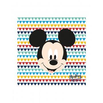 Lot de 20 serviettes jetables Baby  Mickey en papier 33 x 33 cm