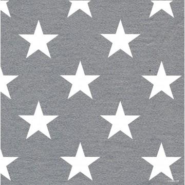 Lot de 20 serviettes Stars argent intissé 40 x 40 cm