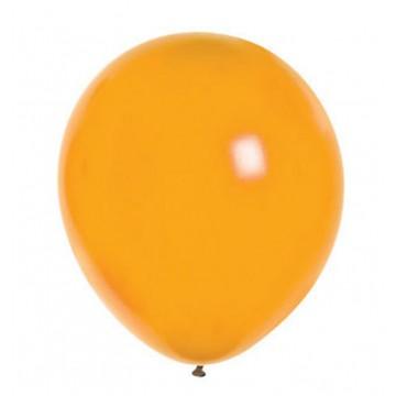 Lot de 24 ballons de baudruche en latex nacré métallisé mandarine