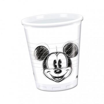 Lot de 25 gobelelets jetables Mickey Vintage en plastique 20 cl