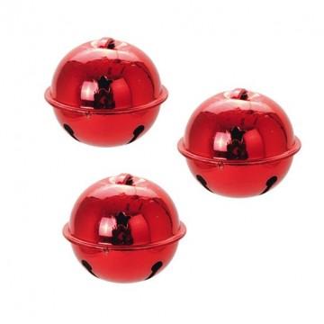 Lot de 3 suspensions grelot rouge