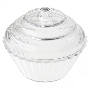 Lot de 4 boîtes Cupcake transparentes 3,4 x 5,5 cm