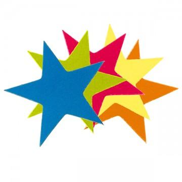 Lot de 50 confettis Cirque multicolores 3 x 3 cm