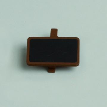 Lot de 6 ardoises rectangle chocolat avec pince 4 x 2 cm