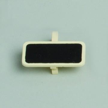 Lot de 6 ardoises rectangle ivoire avec pince  4 x 2 cm