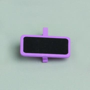 Lot de 6 ardoises rectangle lilas avec pince  4 x 2 cm