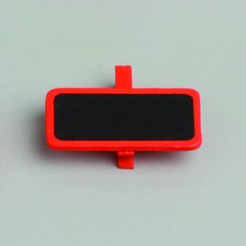 Lot de 6 ardoises rectangle orange avec pince  4 x 2 cm