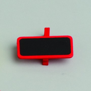 Lot de 6 ardoises rectangle rouge avec pince  4 x 2 cm