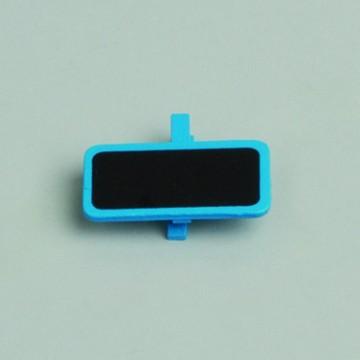 Lot de 6 ardoises rectangle turquoise avec pince  4 x 2 cm