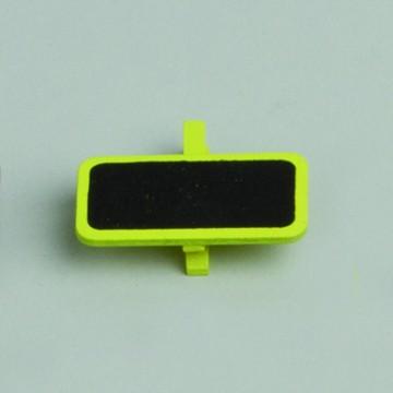 Lot de 6 ardoises rectangle vert avec pince  4 x 2 cm