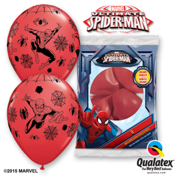 Lot de 6 ballons Ultimate spiderman en latex 30 cm