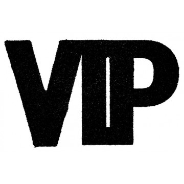Lot de 6 Confettis VIP noir pailleté