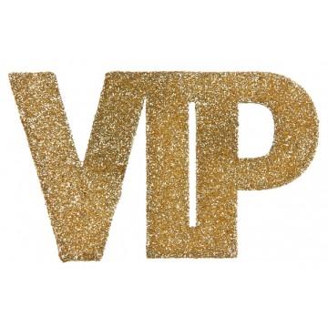 Lot de 6 Confettis VIP or pailleté