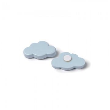 Lot de 6 Nuages adhésifs en résine bleue 3 x 2 cm