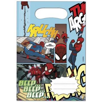 Lot de 6 sachets-cadeaux Spiderman publishing
