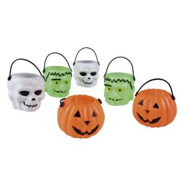 Lot de  6 seaux déco de table Halloween