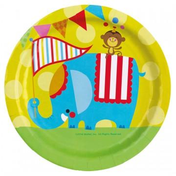 Lot de 8 assiettes Fischer Price Circus 23 cm