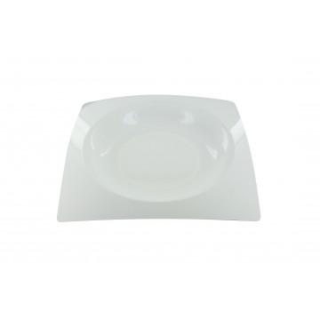 Lot de 8 assiettes jetables design en plastique blanc 23,5 cm