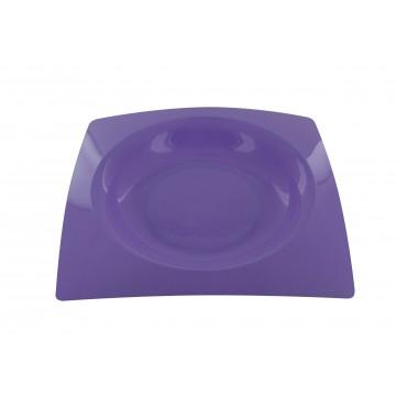 Lot de 8 assiettes jetables design en plastique lilas  23,5 cm