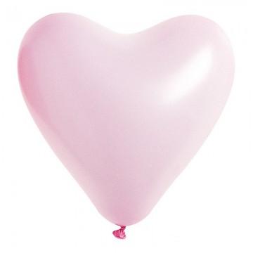 Lot de 8 ballons de baudruche Cœur en latex Rose 35 cm