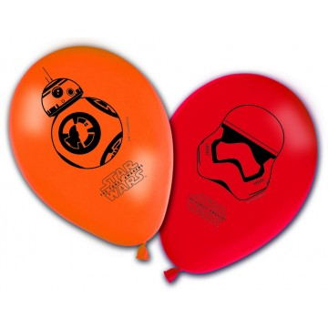 Lot de 8 ballons en latex imprimé Star Wars VII