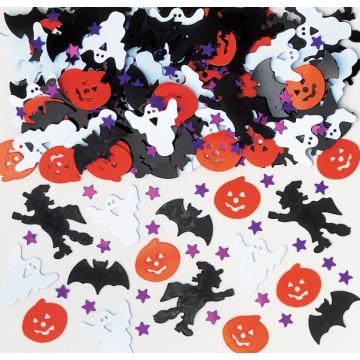 Lot de confettis de table assortis Halloween