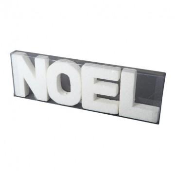 Lot de lettres NOEL blanches 10 cm x 32cm