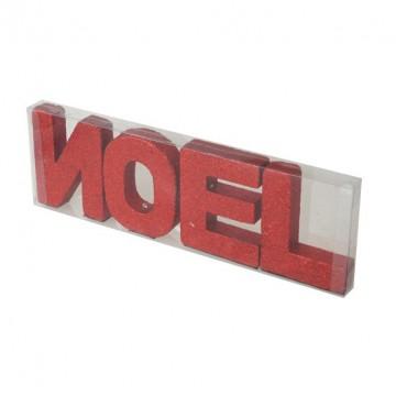 Lot de lettres NOEL rouges 10 cm x 32cm