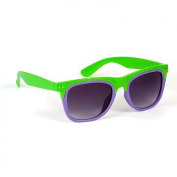 Lunettes bicolores vertes et violettes